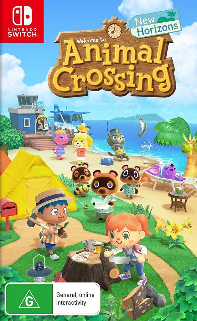 Animal Crossing New Horizons on Switch Box Art